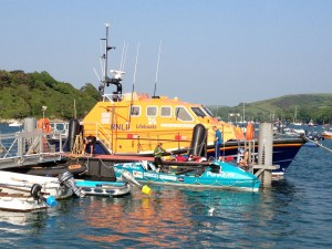 Pure Gym and Salcombe RNLI boat