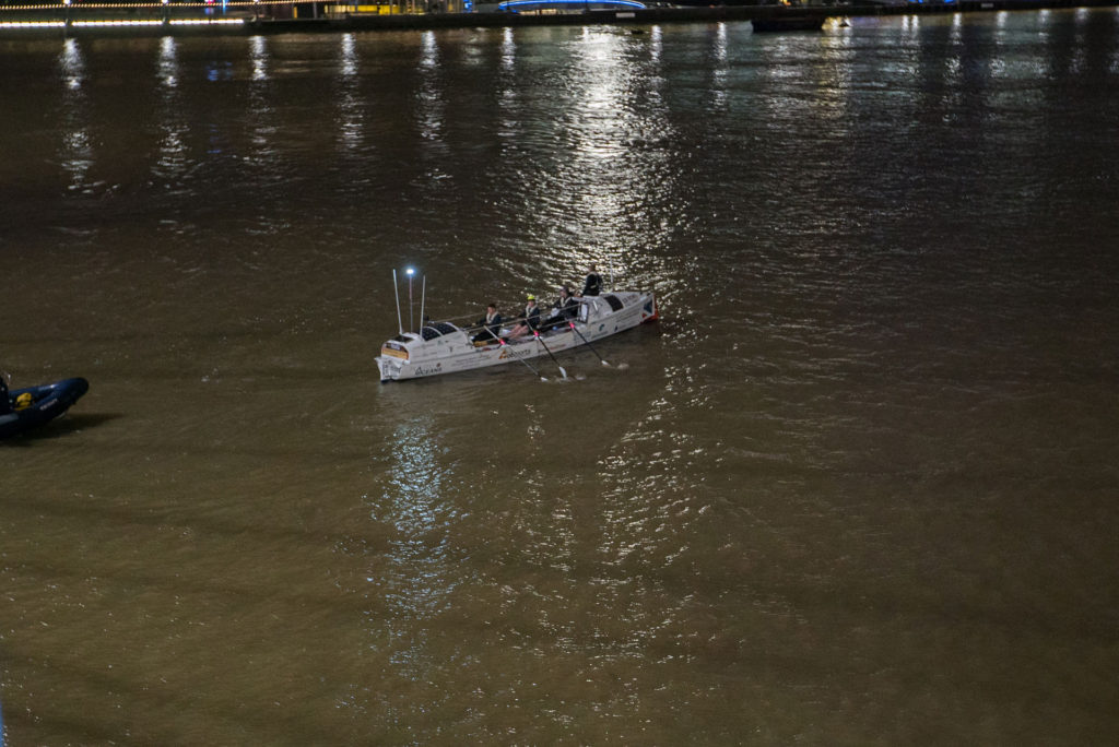 Heading down the Thames from the start